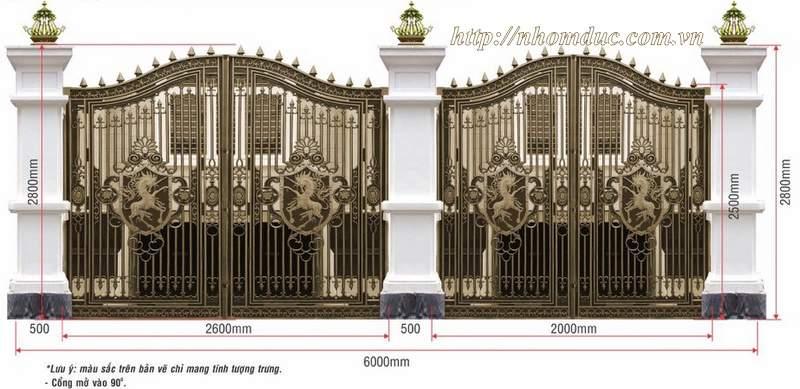 Mẫu thiết kế cổng hàng rào biệt thự nhà vườn đẹp nhất