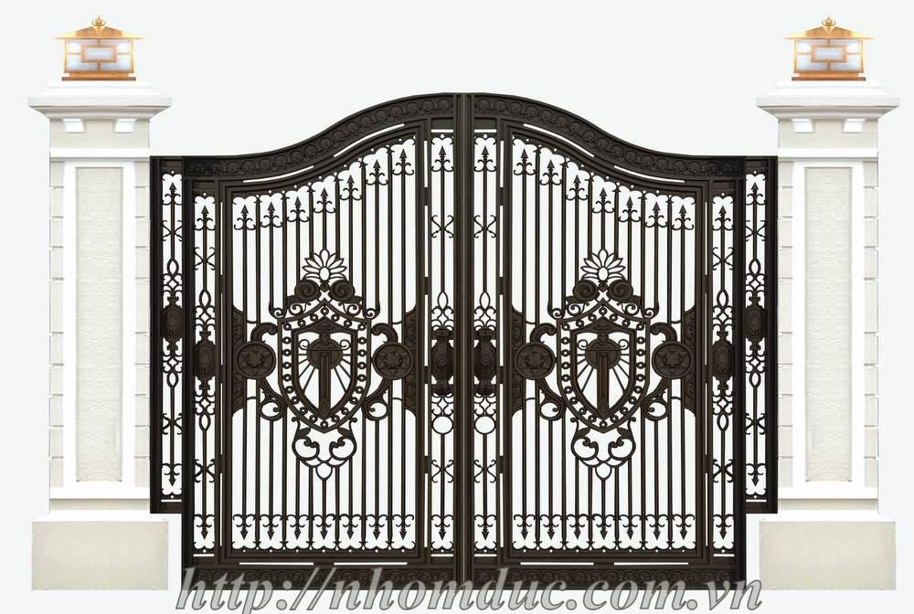 Cổng nhôm đúc biệt thự mẫu thiết kế đẹp