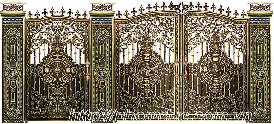 Các mẫu thiết kế và mẫu công trình cổng nhôm đúc đẹp sang trọng và đẳng cấp