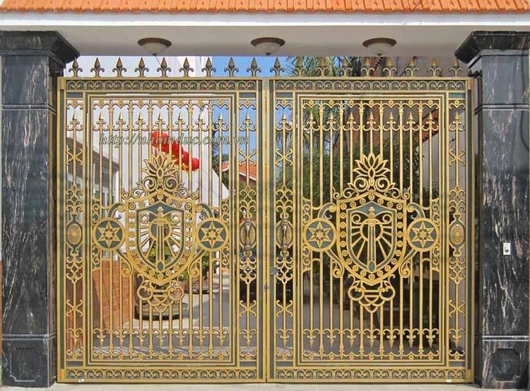 Mẫu cửa cổng đúc hợp kim nhôm Fuco
