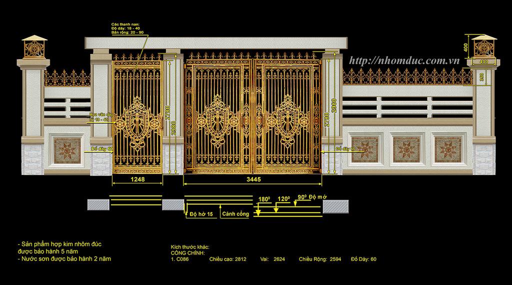 Cửa cổng hợp kim nhôm đúc, sản phẩm nhôm đúc công nghệ Nhật Bản. Nhôm đúc Fuco - LC có nhiều tính năng nổi trội nhất hiện nay.