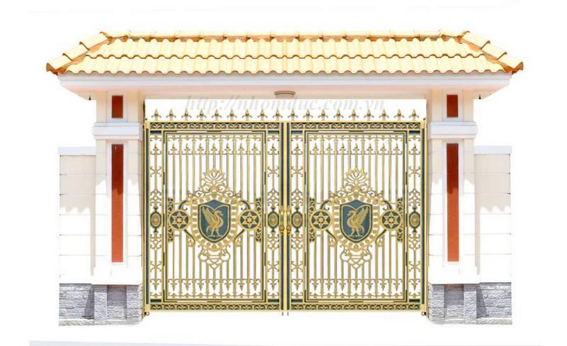 Cổng cửa hợp kim nhôm đúc Hà Nội