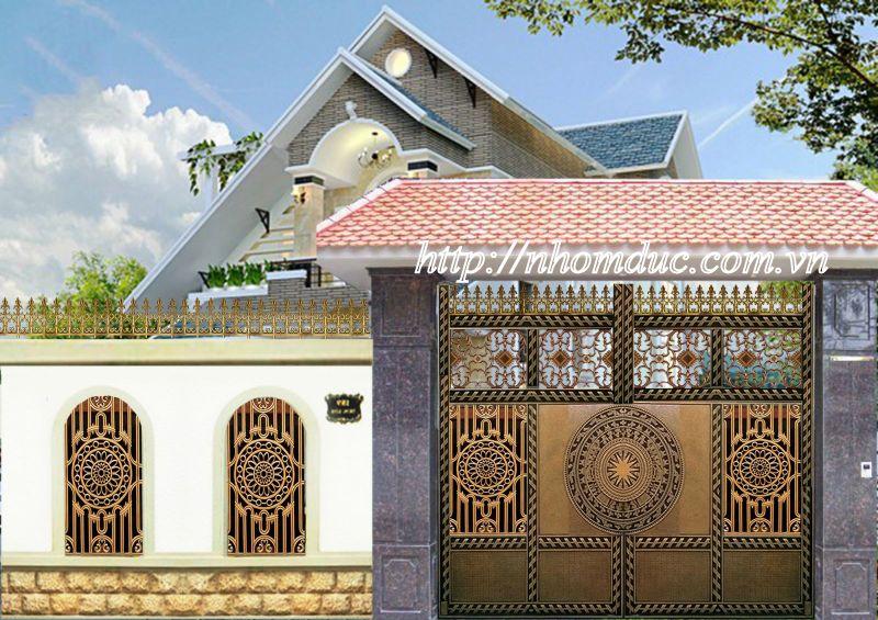 Cửa cổng nhôm đúc Fuco Hà Nội