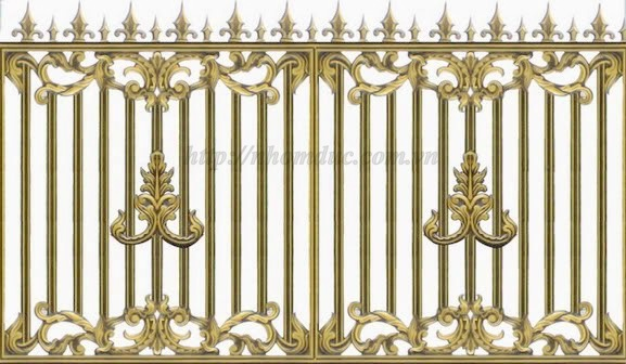 Cổng đúc hoa văn hợp kim nhôm đố Inox,Cửa đi,Hàng Rào,Chông gai.: